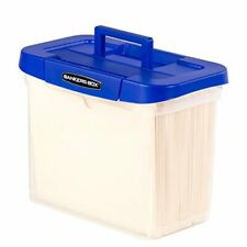 Heavy Duty Portable Plastic File Box With Hanging Rails Letter 1 Pack 0086304