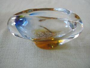 Vintage Mid Century Art Glass Ash Tray, Ashtray
