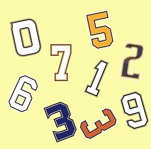 Baseball Customized Tackle Twill Front Numbers for Any Team (un-stitched)