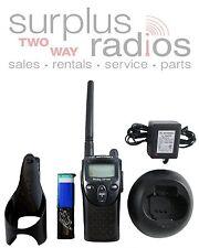 Used Motorola CP100 VHF 2W 1CH LCD display business security radio XV2100 ready