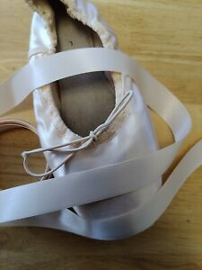 Ballet Pointe Shoe Ribbon 2.5 metres Pink/Nude Double Sided Satin UK Supplier