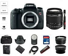 MINT Canon EOS Rebel T6s 24.2 Megapixel Digital SLR with 18-55mm (3 LENSES)