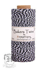 Hemptique Cotton Baker's Twine Black & White 2-Ply 1mm 410 ft 125 m