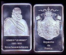 ★ MAGNIFIQUE LINGOT PLAQUE ARGENT ● ROI DE FRANCE ● HENRI IV ★