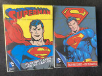 Two DC Comics Superman playing cards brand new sealed