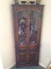 Old Charm Oak Corner Cabinets