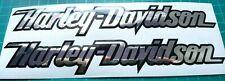 Harley Davidson Schrift Aufkleber Set Chrom