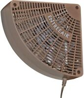 Door Frame Fan 5.25 in Brown Single Speed Corded Circulate Warm Or Cool Air