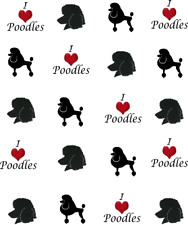 I Love (Heart) Poodles Waterslide Nail Decals/Nail art