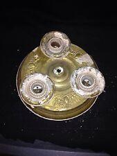"""1930's 9 7/8"""" 3 Bulb Brass Ceiling Light Fixture"""