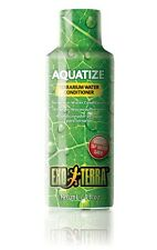 EXO TERRA AQUATIZE LIQUID TERRARIUM WATER CONDITIONER 120ml REPTILE TREATMENT