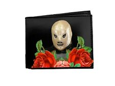 Lucha Libre Decorated Leather Wallet Mexican Wrestler