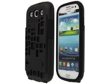Bird Nest Hybrid Plastic Phone Kickstand Case Black for Samsung Galaxy S3/SIII