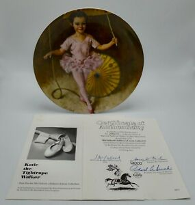Reco Edwin Knowles Katie The Tightrope Walker Collectionneur Plaque 1982