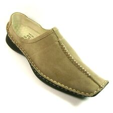 HOGL  Beige Suede Ladies Womens Mules Slip-on Shoes Size 3.5, 4.5, 5