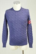 NWOT RALPH LAUREN RUGBY PURPLE KNIT COTTON PULLOVER SWEATER SIZE S