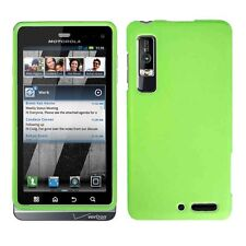 Rubber N Green  Hard Case Phone Cover Motorola Droid 3