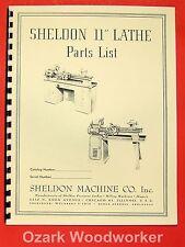"SHELDON 11"" Metal Lathe Parts Manual 0651"