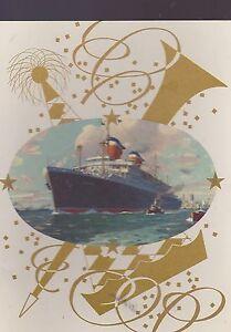 AUG 23 1954 S.S. UNITED STATES cruise ship menu