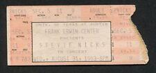 1983 Stevie Nicksl concert ticket stub Austin Tx Fleetwood Mac
