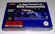 Nigel Mansell's World Championship Racing Super Nintendo Boxed PAL *Complete *2