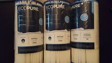 Lot of 3 ECOPURE  EPW4P Whole Home Replacement Water Filter Universal fit