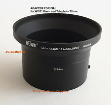2 Part LENS ADAPTER 58/72mm AptTo CAMERA FUJI FINEPIX S1800 S1850 S1880