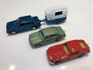 Majorette Réf 230 / 229 / 256 Lot Volvo 760 GLE + Van - Datsun 260 Z - BMW 733