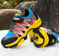 Kinder Jungen Schuhe Rutschfest Wanderschuhe Freizeitschuhe Outdoor 31-39