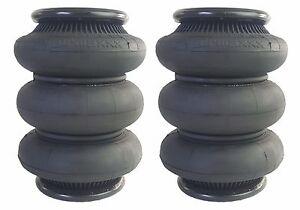 "2 triple bellow 2600 air bags 1/2""npt single port ride springs bag suspension"