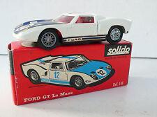 SOLIDO SÉRIE 100   FORD GT LE MANS   R.146  1966   BON ÉTAT    BOITE D'ORIGINE