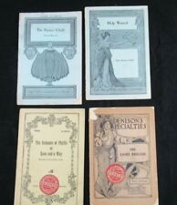 LOT OF 4 PLAY BOOKLETS.