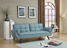 Brand New Luxury 3 Seater Blue Fabric SOFA BED Modern design Quality finish
