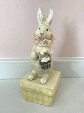 Bethany Lowe Style Easter Bunny Paper Mache Decorative Box - Vintage Style