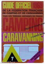 Guide officiel CAMPING CARAVANNING 1969 terrains aménagés en France caravaning