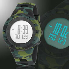 OHSEN Military Army 5ATM Water Proof Date Day Digital Black Quzartz Wrist Watch