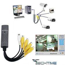 SCHEDA ACQUISIZIONE DVR VIDEO SORVEGLIANZA 4 CANALI EASYCAP USB 2.0 PC NOTEBOOK