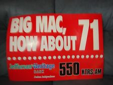 MARK MCGWIRE BIG MAC HOW ABOUT 71 POSTER  20 YEARS OLD MINT