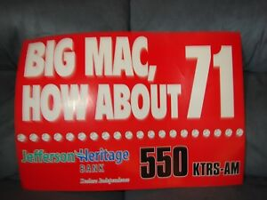 MARK MCGWIRE BIG MAC HOW ABOUT 71 POSTER  20 YEARS OLD MINT POSTER