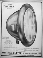 AD PRINT Original 1913 Mestra electric reflector silver reflector MESTRE BLATGE