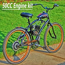 50cc Motorised Motorized Bicycle Push Bike 2-Stroke Motor Petrol Gas Engine Kit.