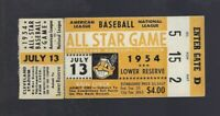 1954 BASEBALL ALL STAR GAME TICKET STUB @ CLEVELAND - JACKIE ROBINSON - MANTLE
