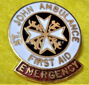 EMS ST JOHN AMBULANCE EMERGENCY FIRST AID Pin MINT