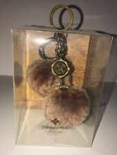 "Patricia Nash Sherpa Sheepskin Key Chain Fob ""Tan"" Nwt Boxed Sealed Great 4 Gift"