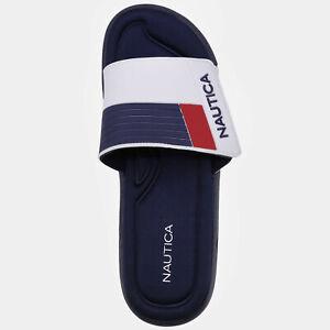 NWT Men's Nautica Cblock Beach Athletic Adjustable Strap Sandals Slide