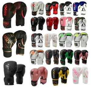 Maxx® Boxing Gloves Punch Bag Training MMA Muay Thai KickBoxing Fight Sparring
