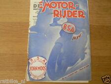 MOTORRIJDER 1935 NO 10,BSA ADD,CROSS TT MOTOR,FRAME,HALVERHOUT,VERLAAN RUDGE, MC