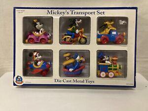 Mickey Mouse Diecast Vehicles Disney Mickey's Transport Set Metal Toys Vintage