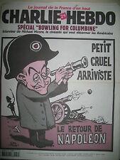 CHARLIE HEBDO 538 LE RETOUR DE NAPOLEON SARKOZY PAR RISS MOUGEY WOLINSKI 2002