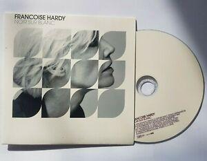 FRANÇOISE HARDY  : NOIR SUR BLANC (de CALOGERO) ╚ CD PROMO GRAND FORMAT